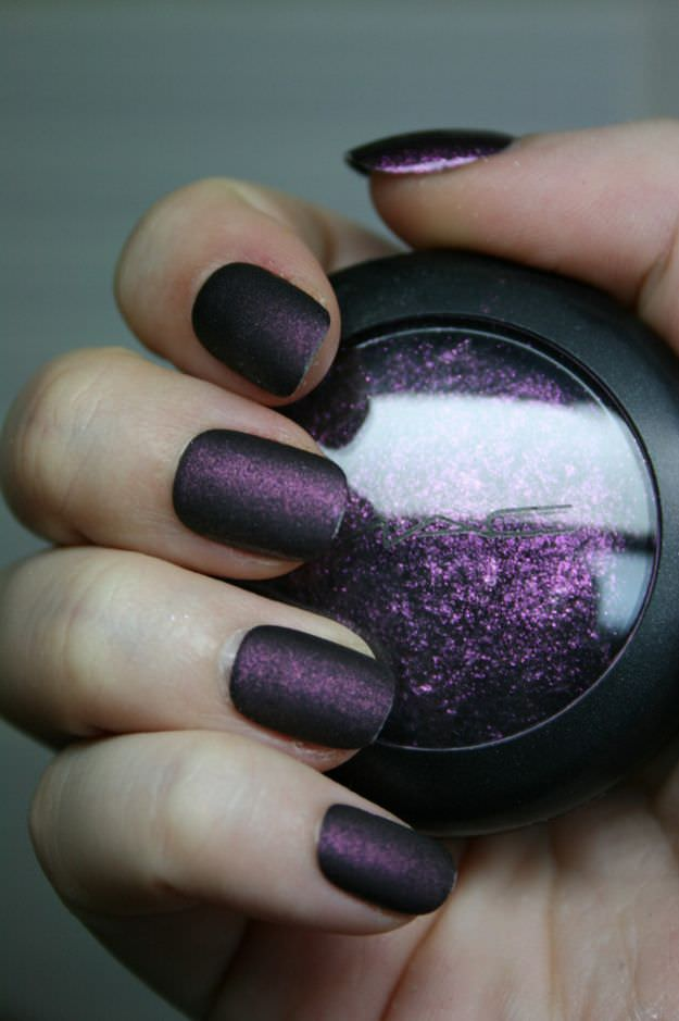 New Purple Nail Design, Pure Purple , dark.