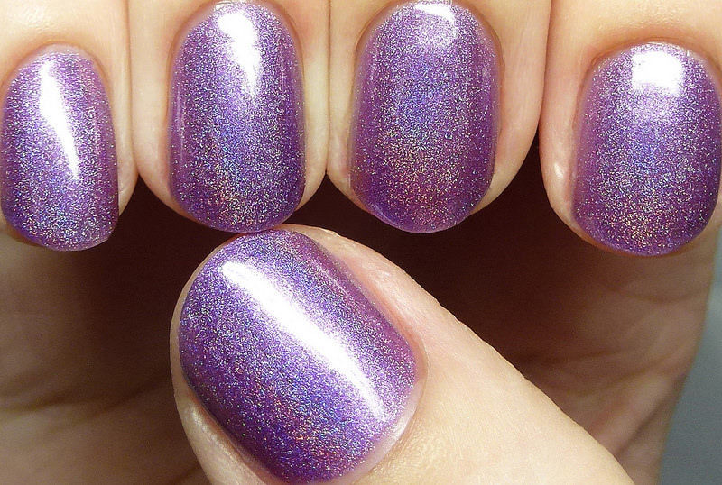 shine purple nail design
