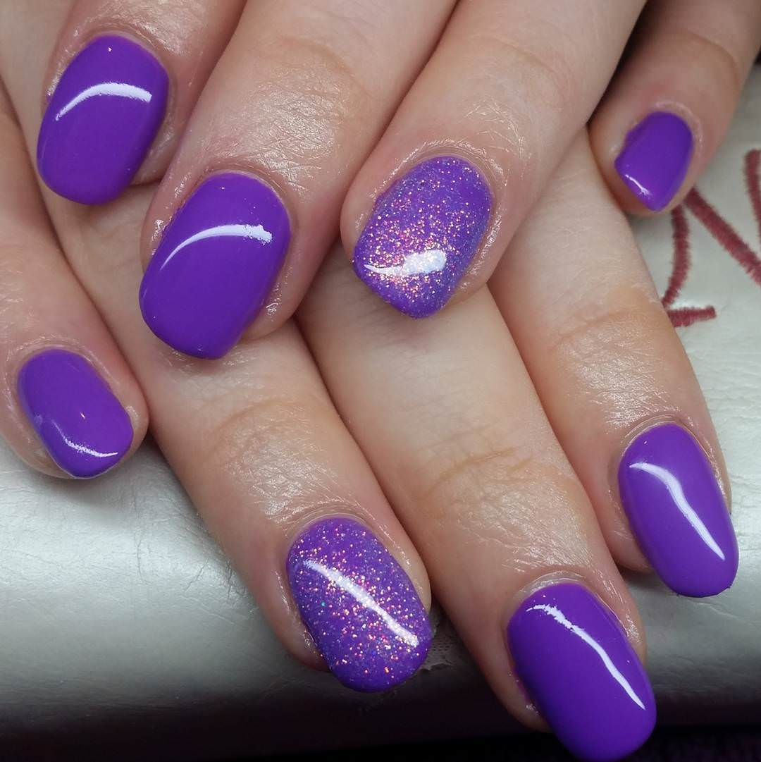 spark purple nail design