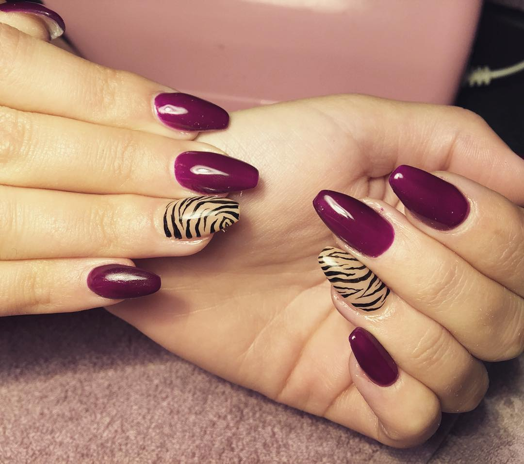 Candy Zebra Nail Design