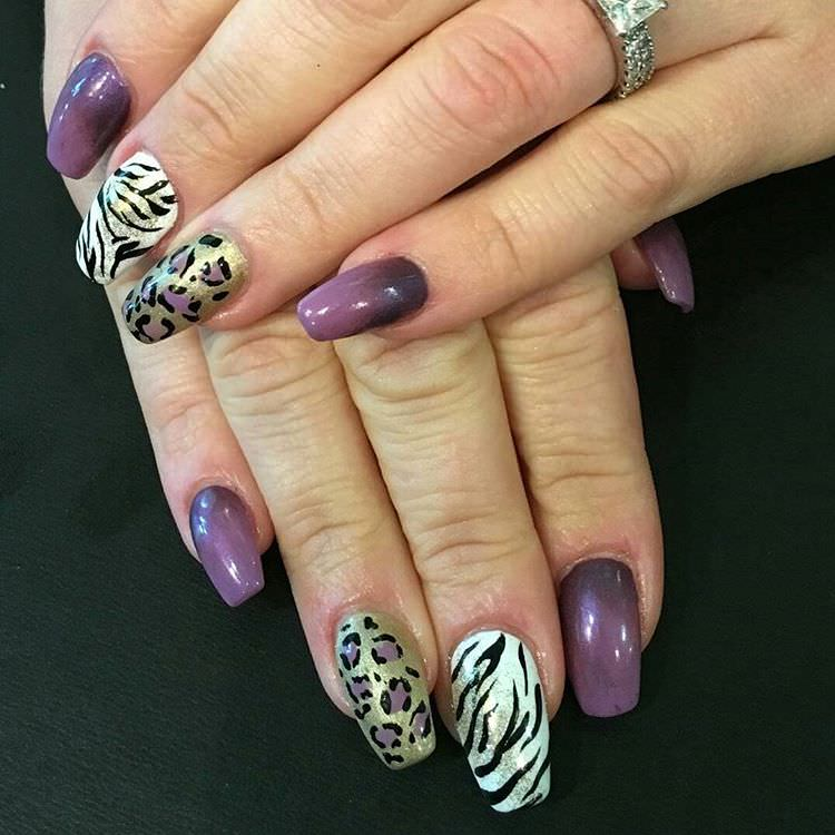 Life Spa Zebra Nail Design
