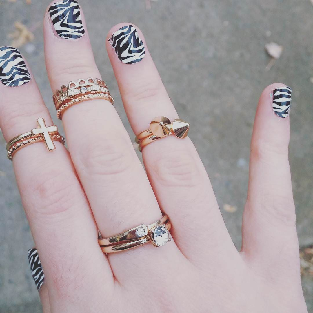 Love Zebra Nail Design