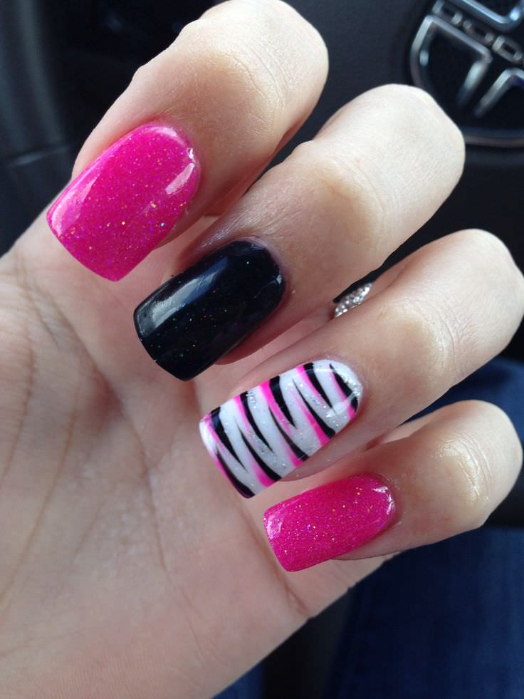 Fashion Nail Trend: 22+ Zebra Nail Art Designs, Ideas