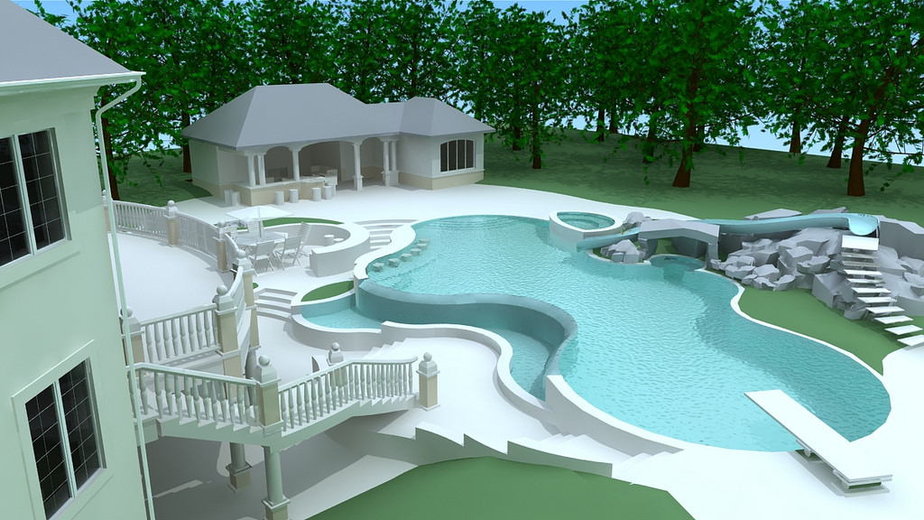 30 modern swimming pool designs outdoor designs for Swimming pool design xls