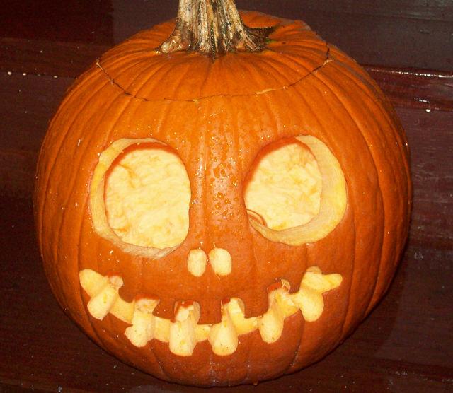 35 pumpkin carving patterns designs patterns designs for Skeleton pumpkin design