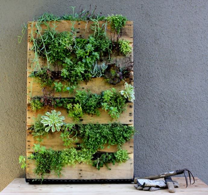 Front House Pallet Planter Design