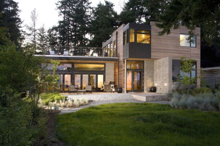 Contemporary Rustic Residence Exterior Design