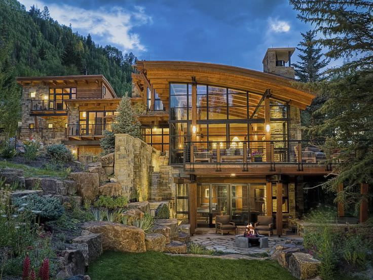 Gorgeous Rustic Residence Exterior Design