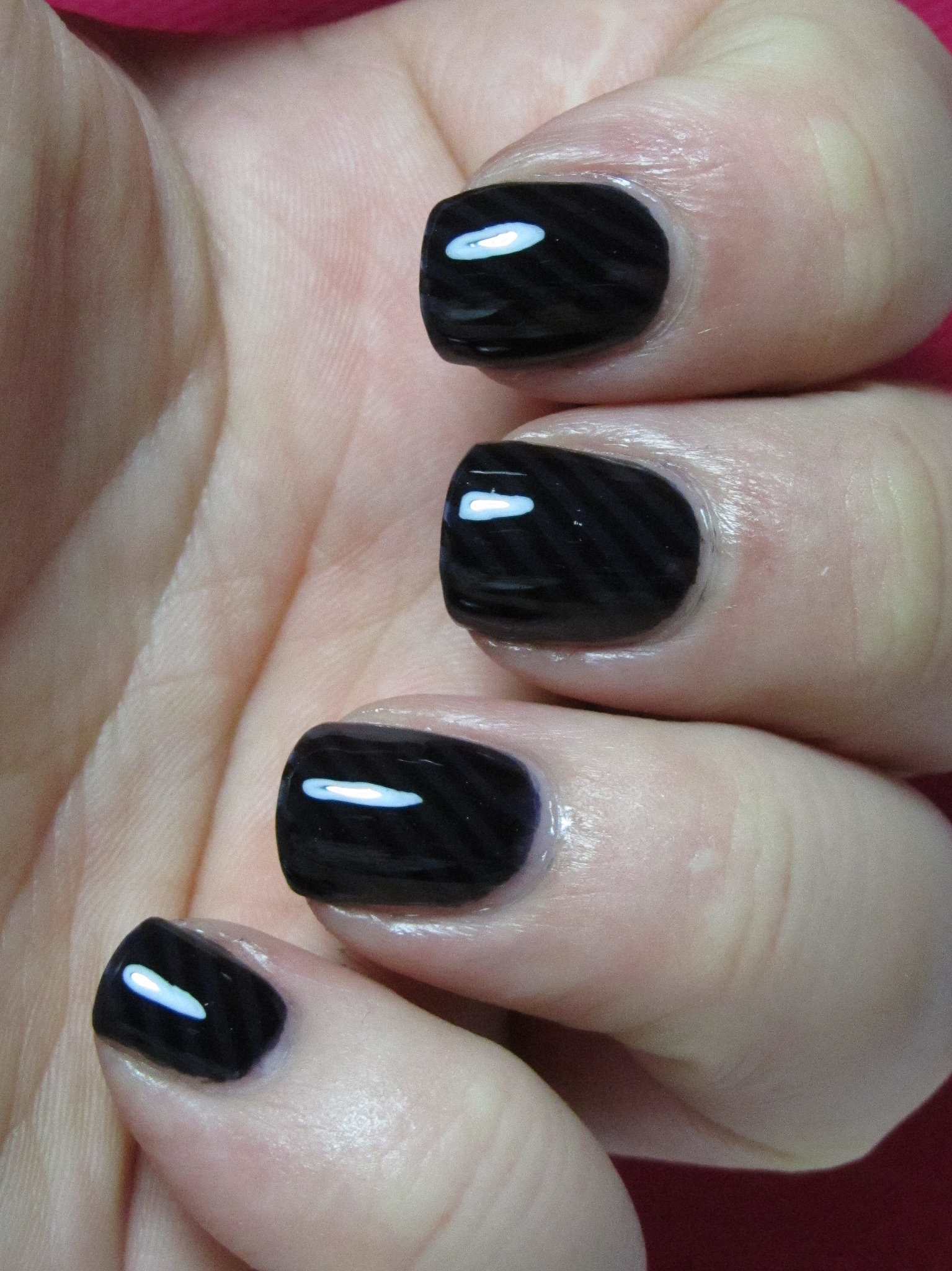 black fall nail design11
