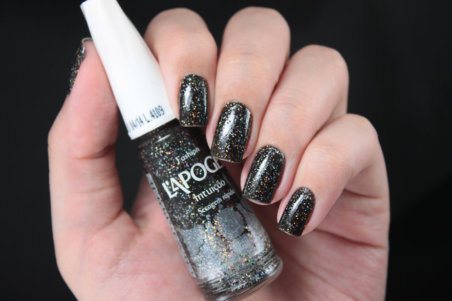 black fall nails design