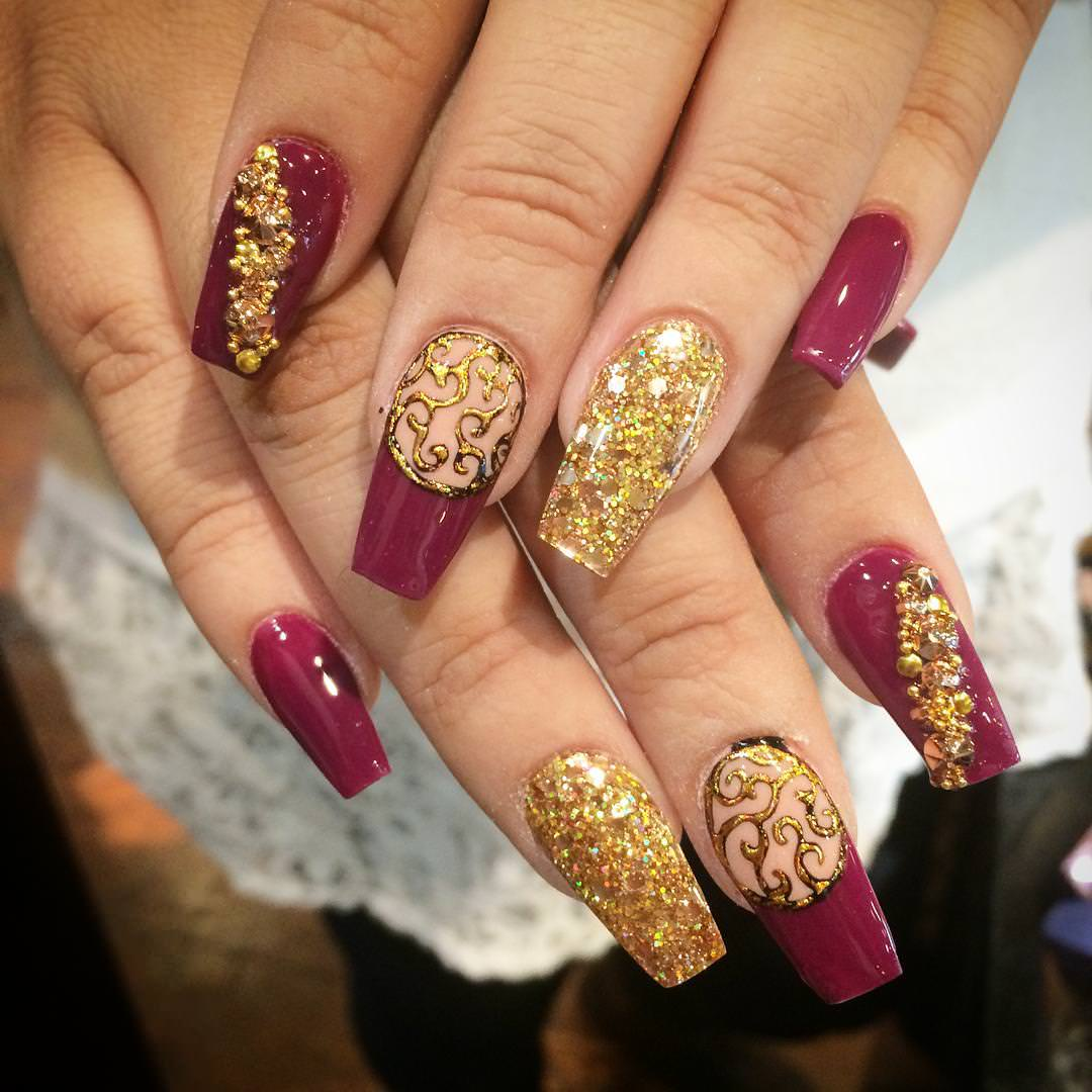 crazy fall nail design