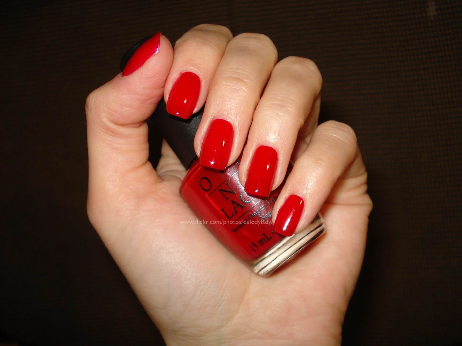 Cute Dark Red Fall Nail Design
