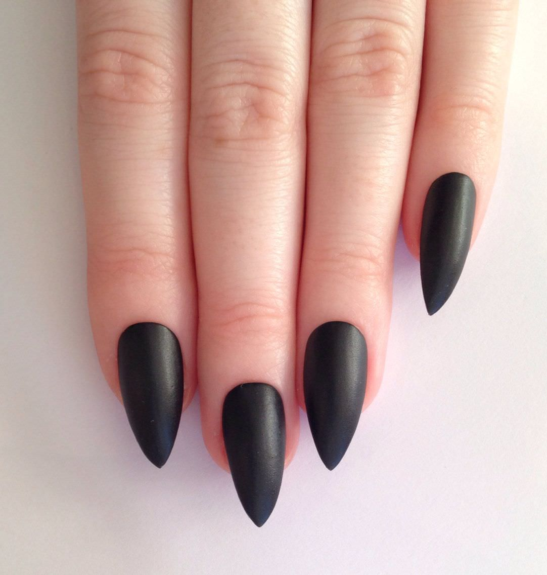 Dark Black Fall Nails Design