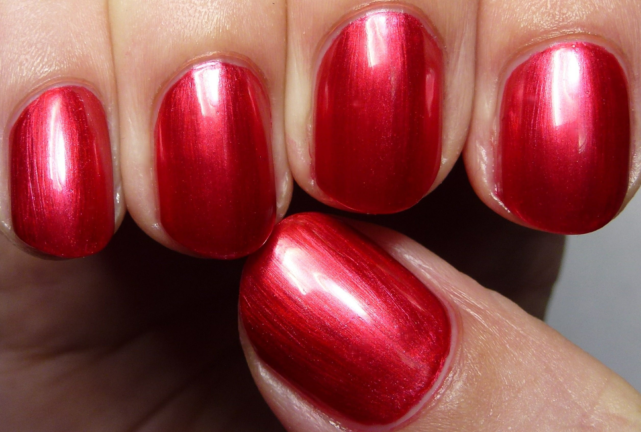 dark red fall nail design
