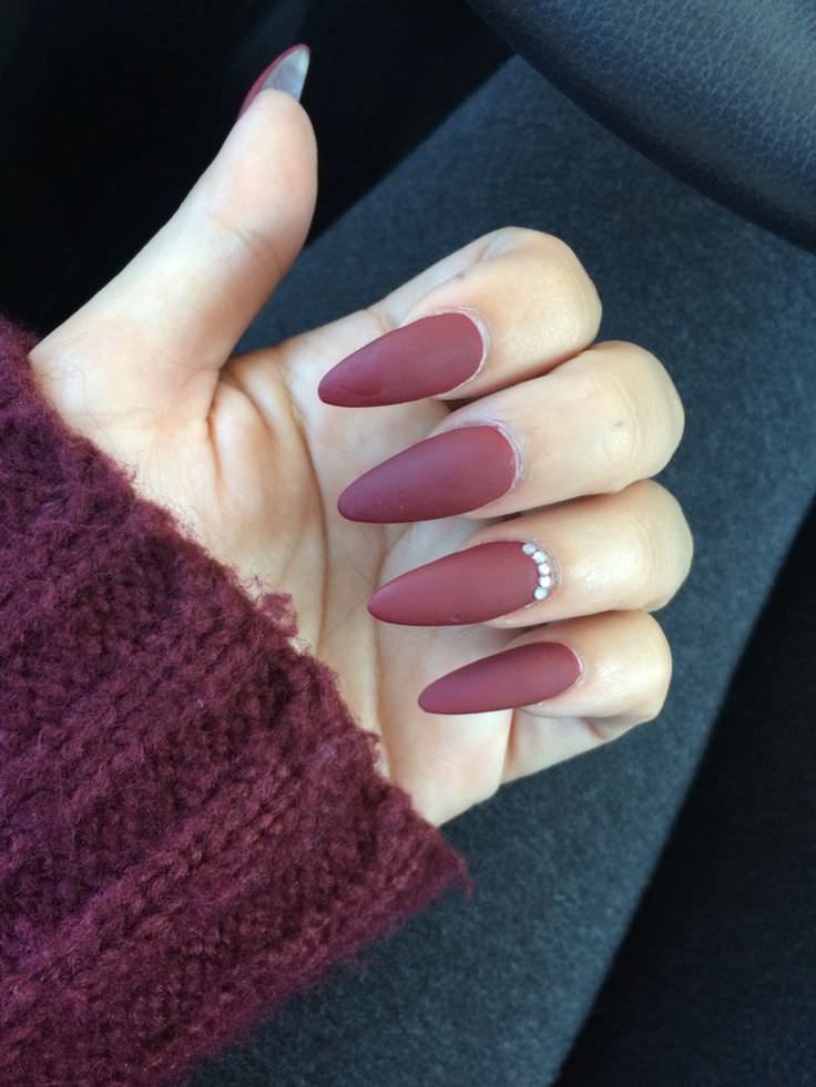 elegant fall nail design