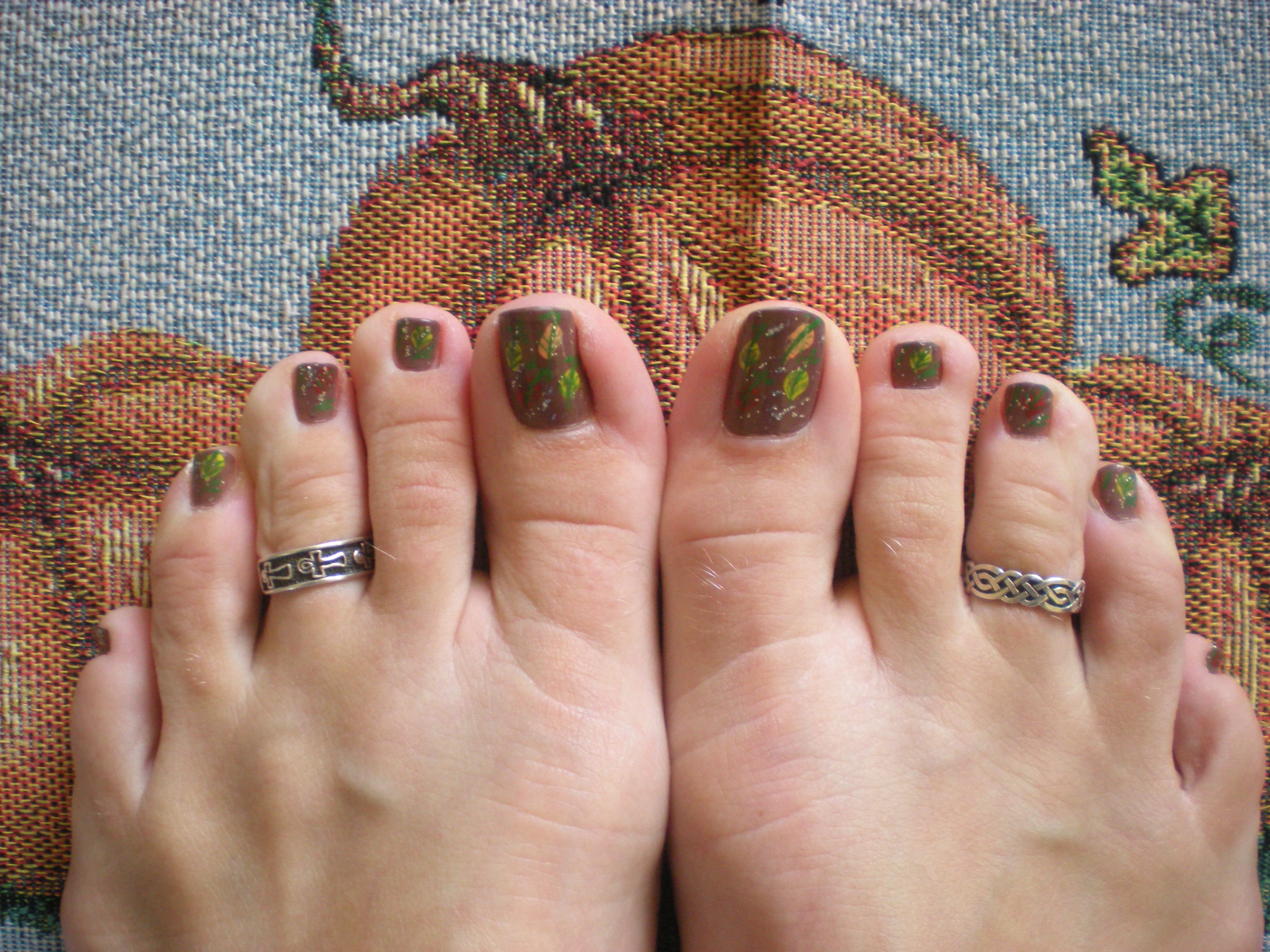 Fall Toe Nail Designs
