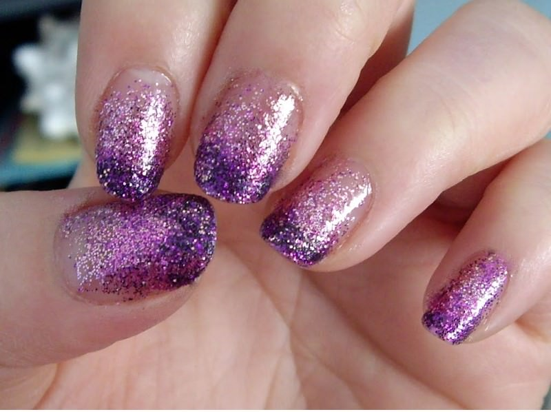 glittering fall nail designs