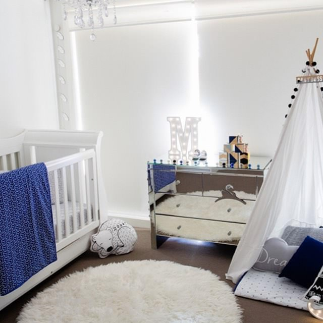 New Born Nursery Bed Design, white bed
