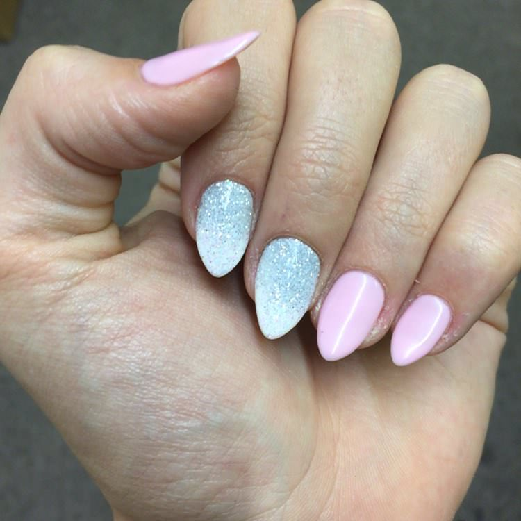 Cute Pink Summer Nail Design