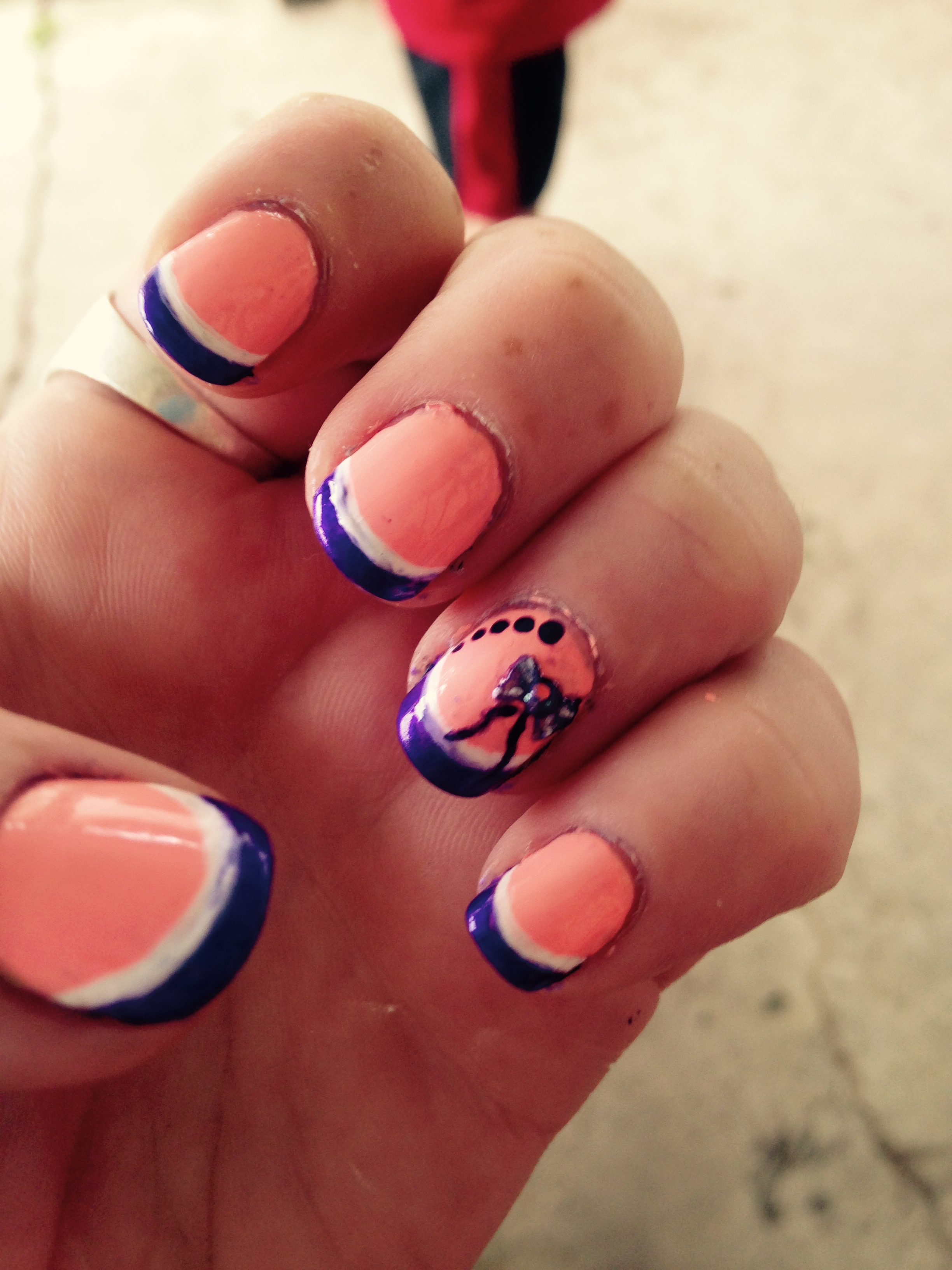 Cute Short Summer Nail Design