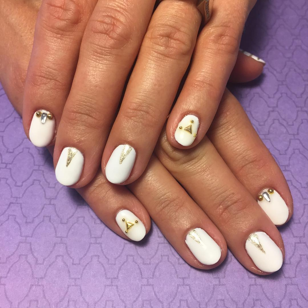 Cute White Summer Nail Designs