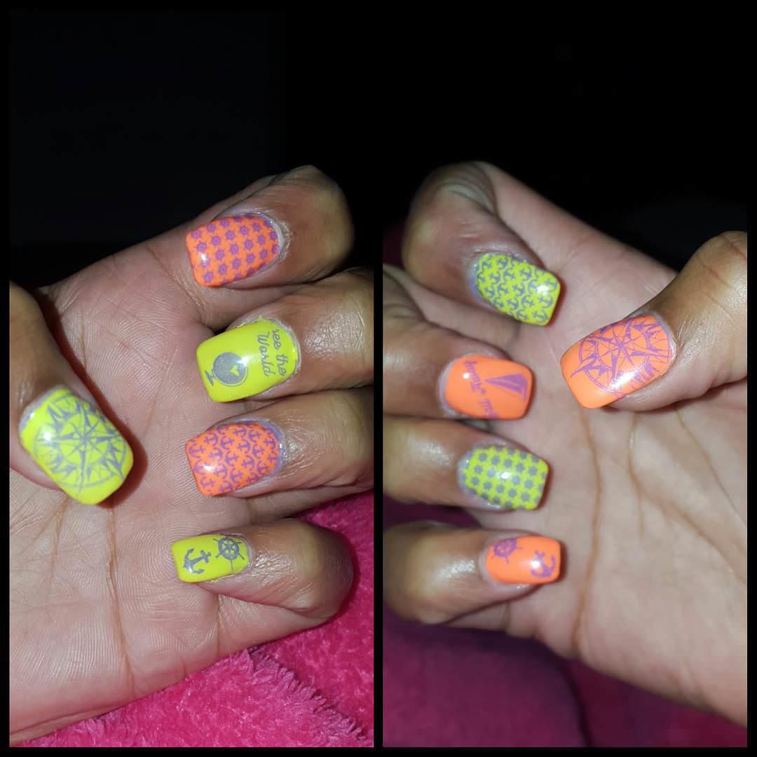 Neon Summer Nail Designs