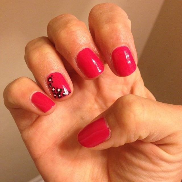 Pink Cheetah Summer Nail Designs