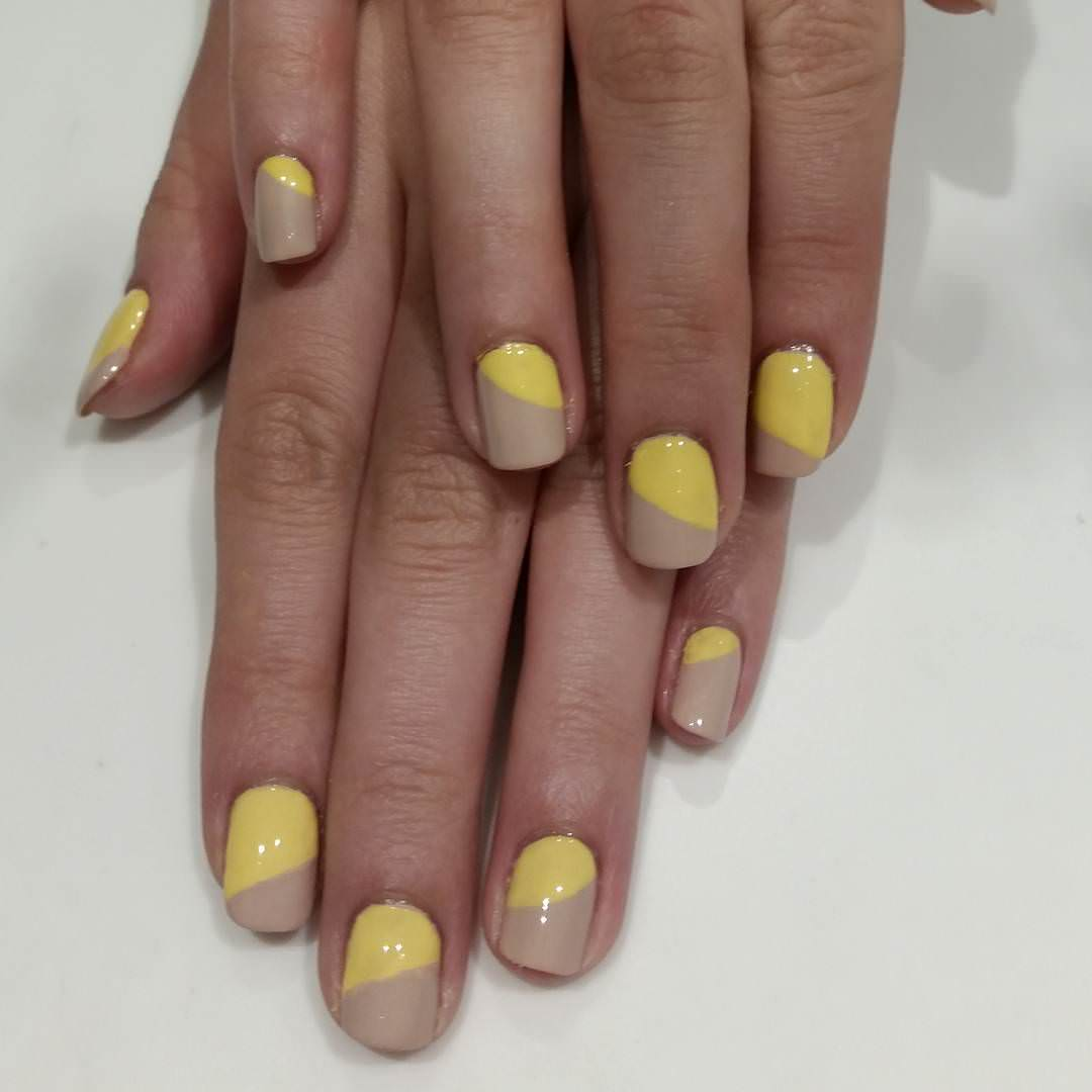 Yellow Summer Nail Design