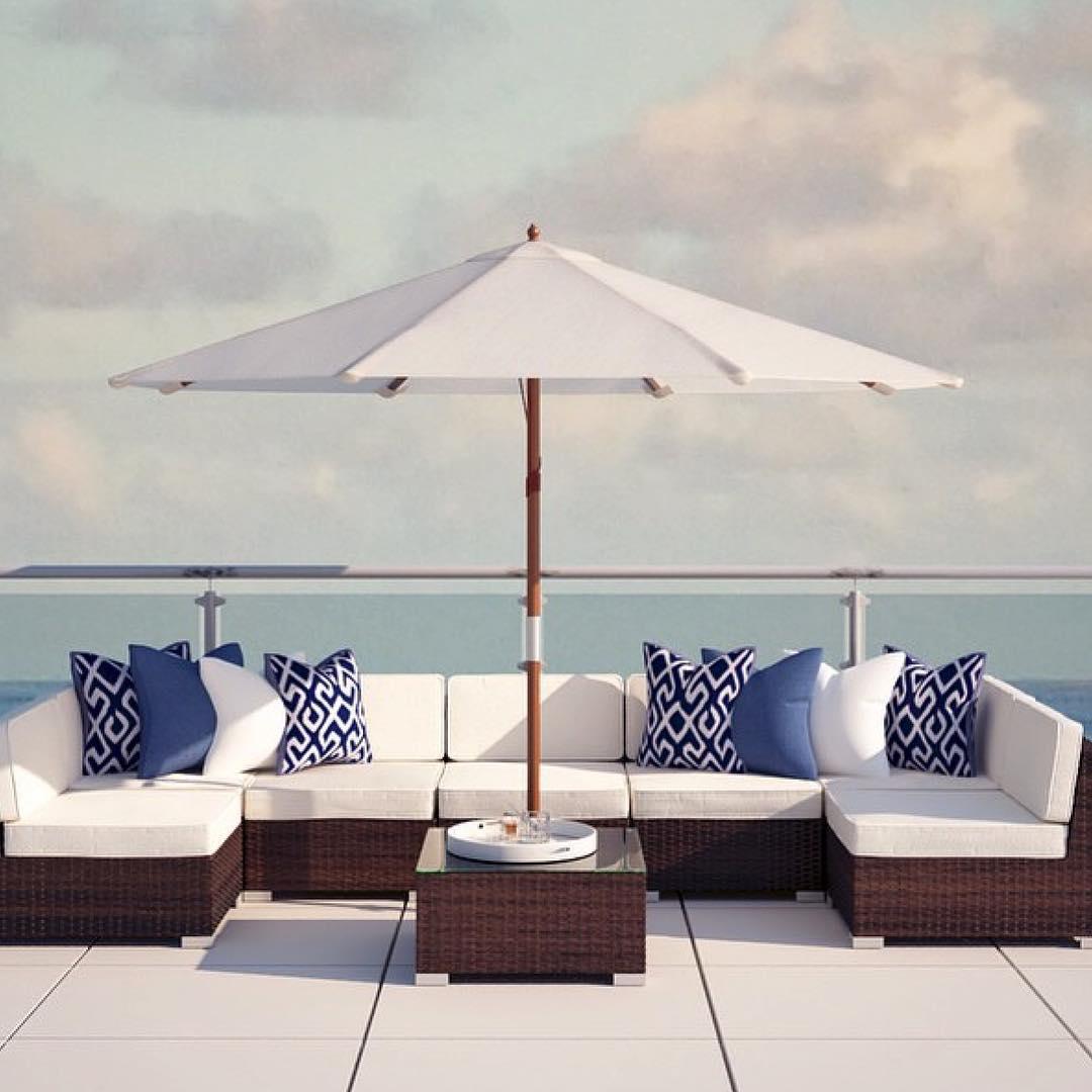 Beach Style Contemporary Patio Design