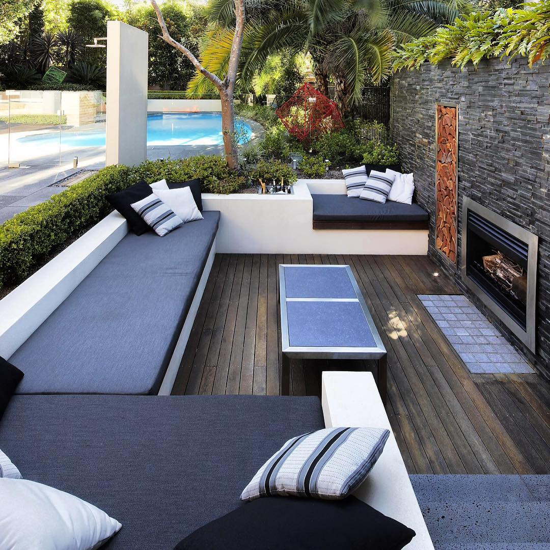 27+ Contemporary Patio Outdoor Designs, Decorating Ideas ... on Backyard Patio Layout id=54244