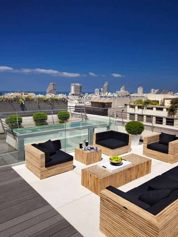Rooftop Terrace Contemporary Patio Design