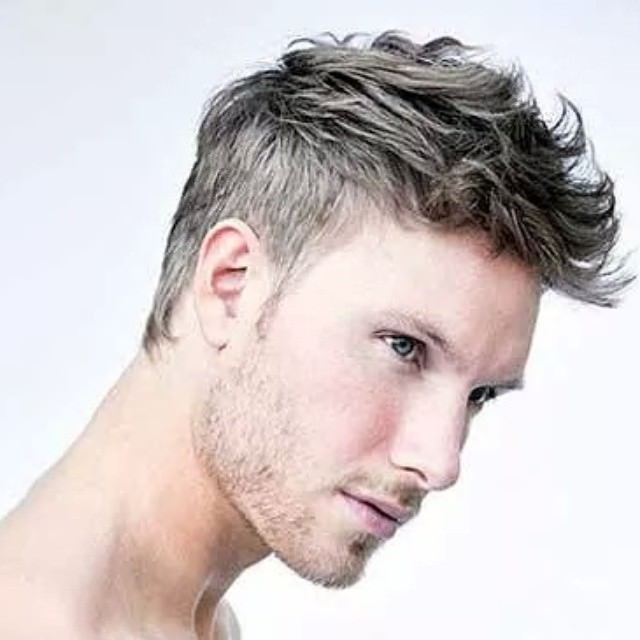 short hair design for men in cool