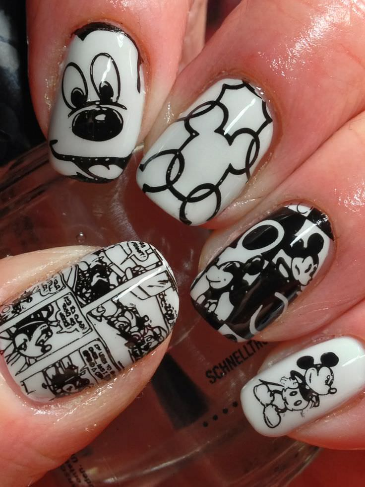 Canadian Disney Nail Design