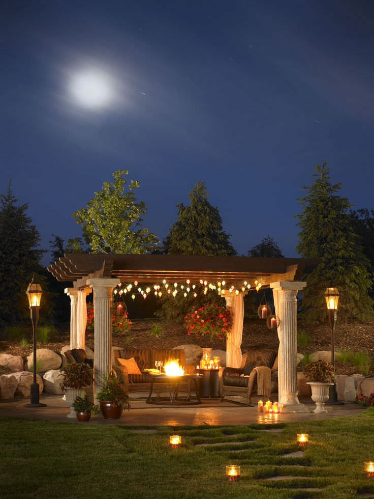 Backyard Outdoor Lighting Design