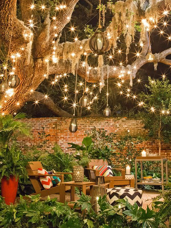 cool string outdoor lighting design