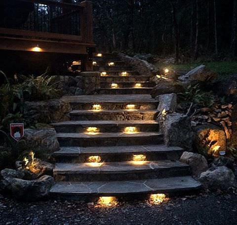 entry way outdoor lighting design