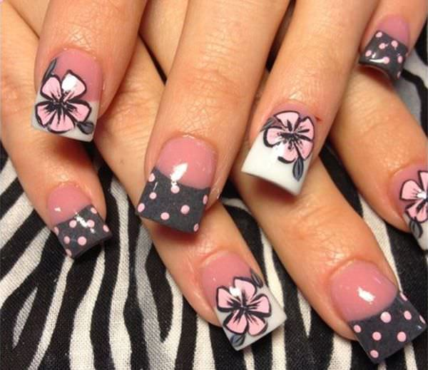 Art Flower Toe Nail Design