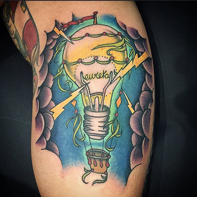 Bulb Lightning Tattoo Design