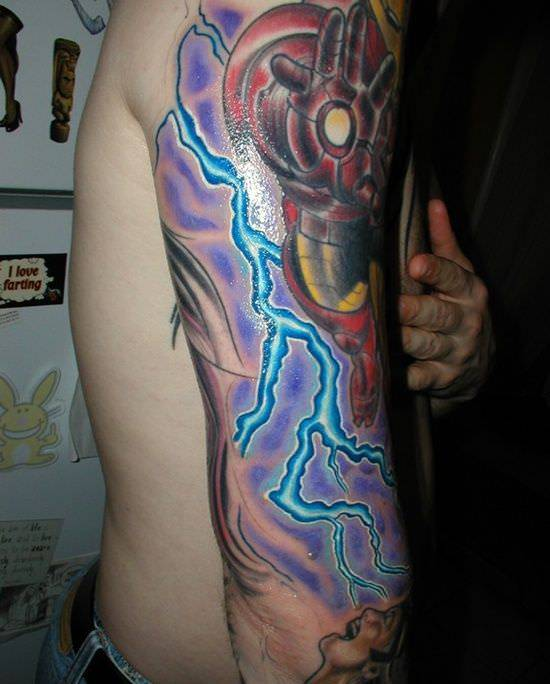 Sleeve Lightning Tattoo Design
