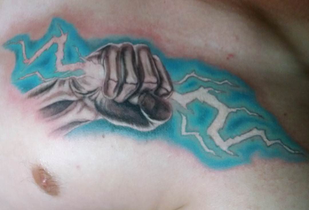 Xray Lightning Tattoo Design