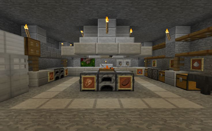 Exceptionnel Food Minecraft Kitchen Design