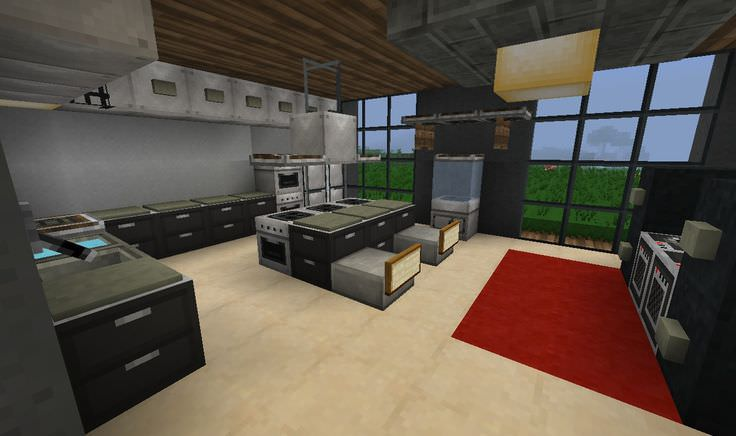 22 mine craft kitchen designs decorating ideas design for Minecraft house interior living room
