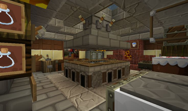Seeds Minecraft Kitchen Design
