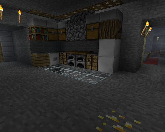 Stone Minecraft Kitchen Design