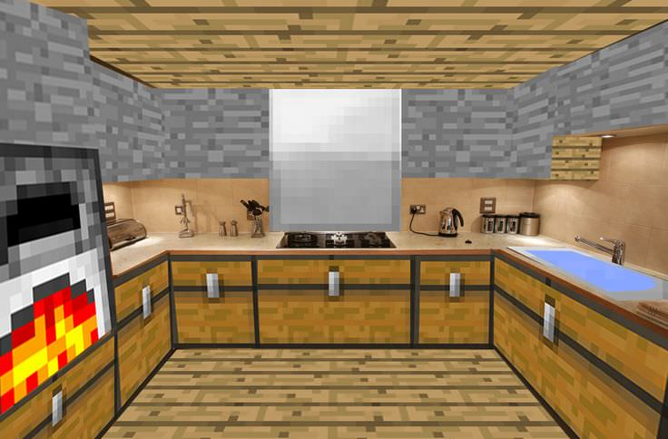22 mine craft kitchen designs decorating ideas design for Modern house xbox minecraft