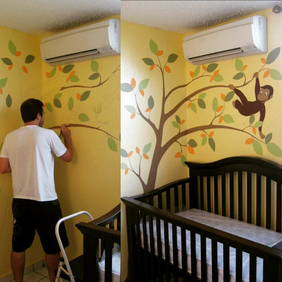 Art Accent Wall Design for Kid