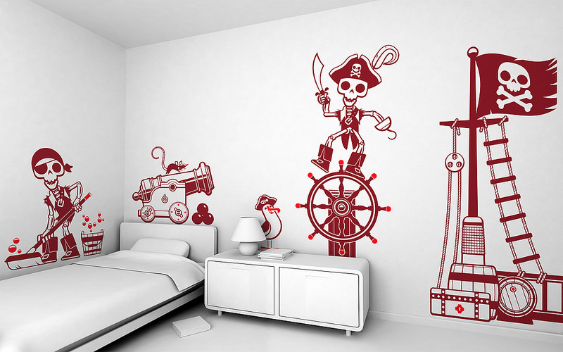 E Glue Accent Wall Design for Kid