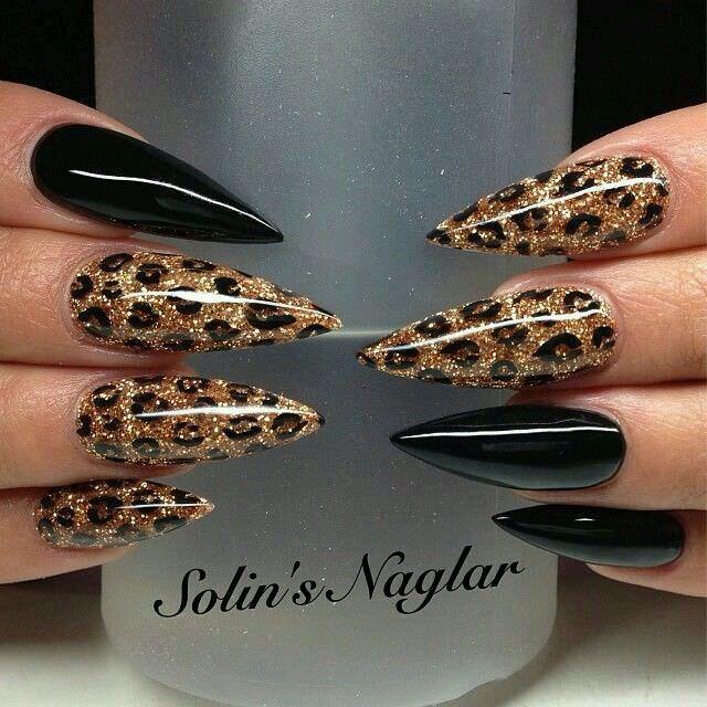 Rock Leopard Nail Design