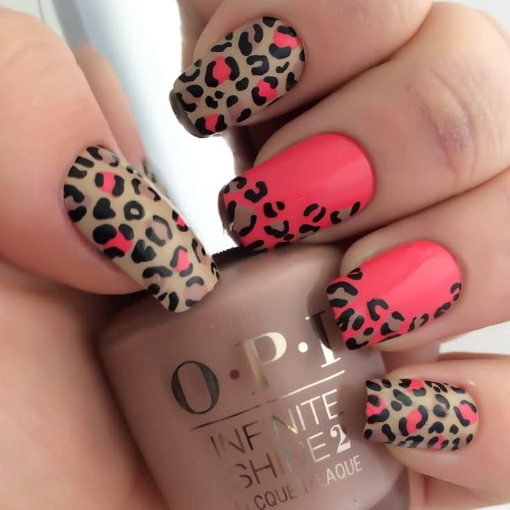 Leopard Nail Designs Design Trends - Premium PSD, Vector Downloads - Nails Design Leopard ~ Beautify Themselves With Sweet Nails