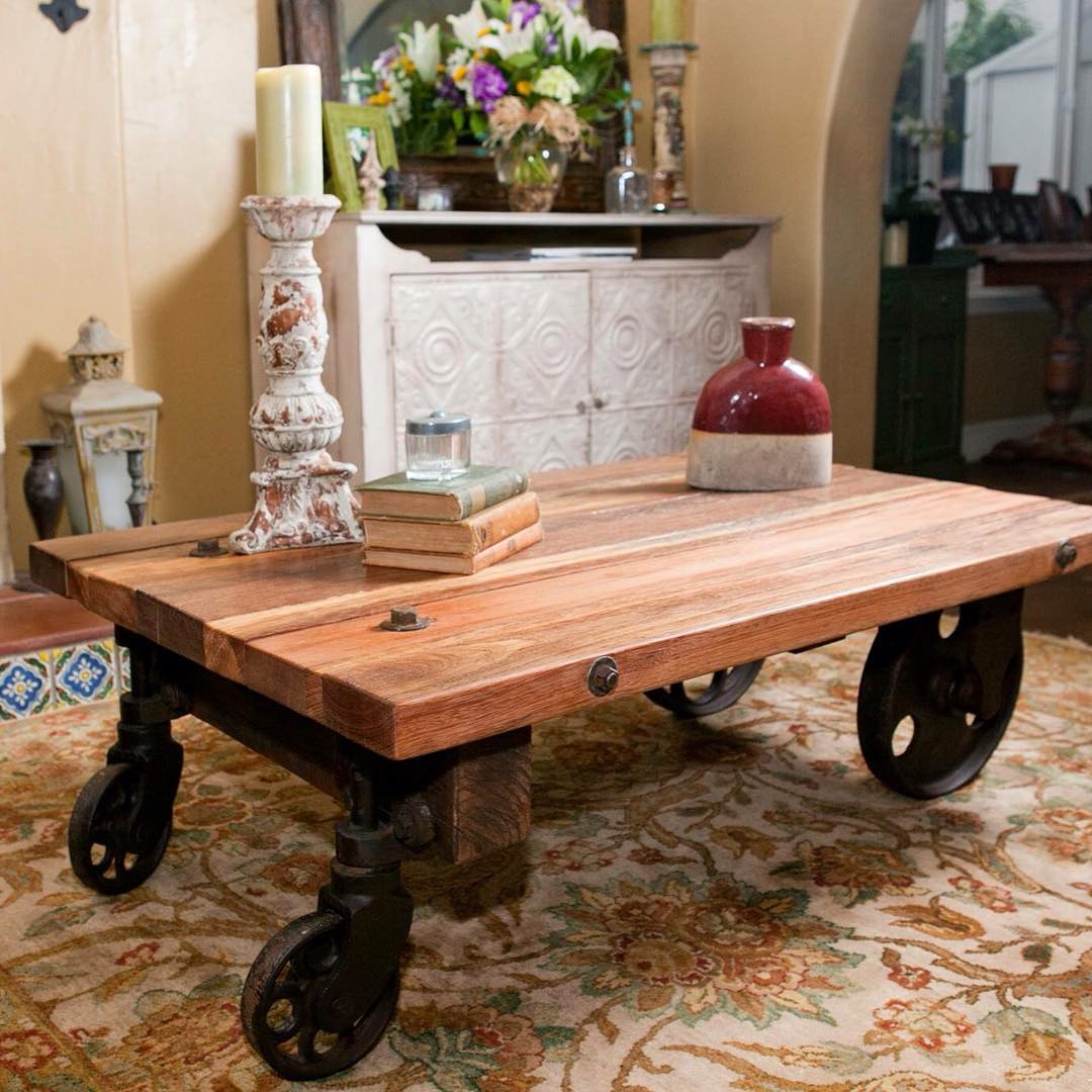 Rail Carts Coffee Table Design